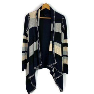 FATE Womens Open Front Cardigan Sweater Blue Gray